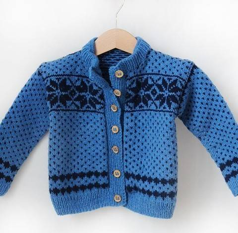 Fair Isle Technik und Steek - kuscheligen Babycardigan stricken