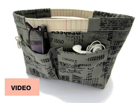 Cours-projet - Apprenez à coudre l'organisateur de sac