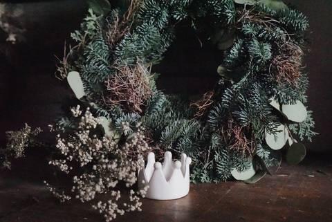 *Neu* Selbstgewickelte Adventskränze aus frischem Tannengrün