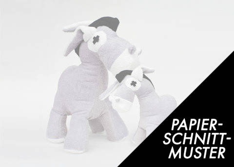 Gedrucktes Schnittmuster für: Esel in zwei Größen im Makerist Materialshop