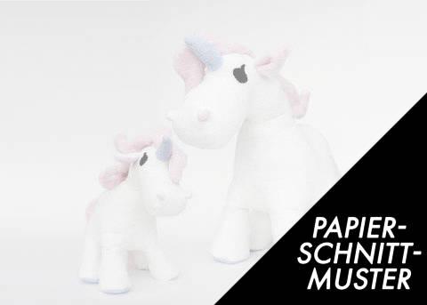 Gedrucktes Schnittmuster für: Einhorn (Pony) in zwei Größen im Makerist Materialshop