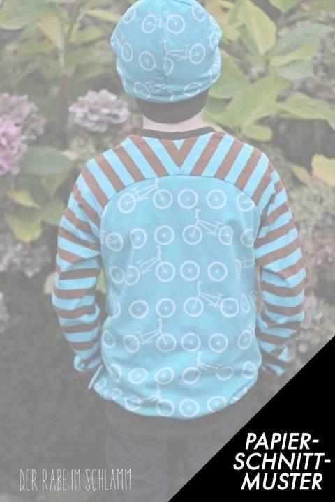 """Gedrucktes Schnittmuster für: Kinder Raglanshirt """"Bethioua Kids"""" Gr.104-134 mit raffinierter Rückenpasse im Makerist Materialshop"""