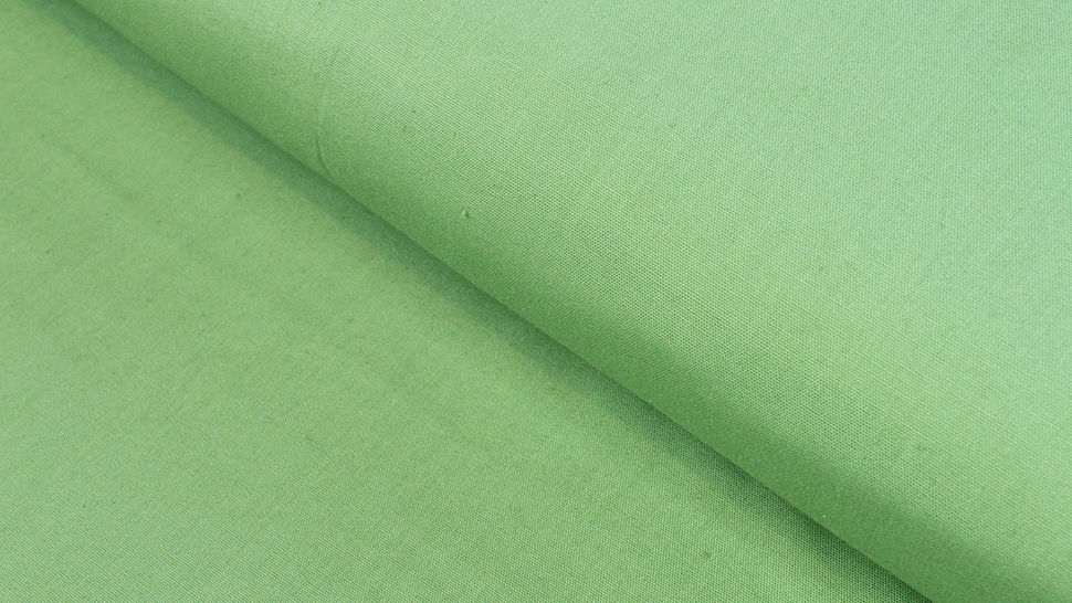 Crétonne toile de coton unie vert vif : Lande - 150 cm dans la mercerie Makerist - Image 1