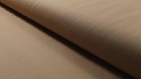 Baumwollstoff beigebraun uni: Heide - 150 cm im Makerist Materialshop