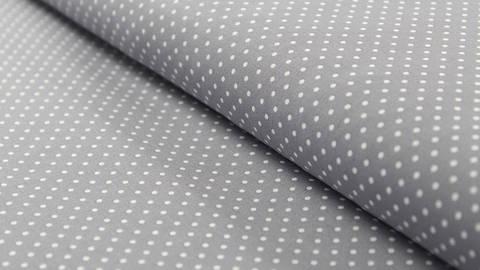 Baumwollstoff Polka Dot grau: Judith - 148 cm im Makerist Materialshop