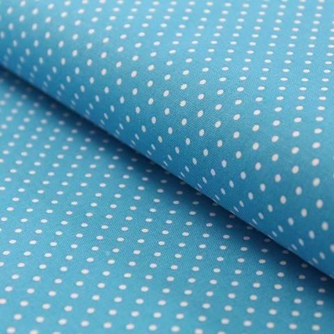 Tissu coton bleu ciel petits pois : Judith - 148 cm dans la mercerie Makerist