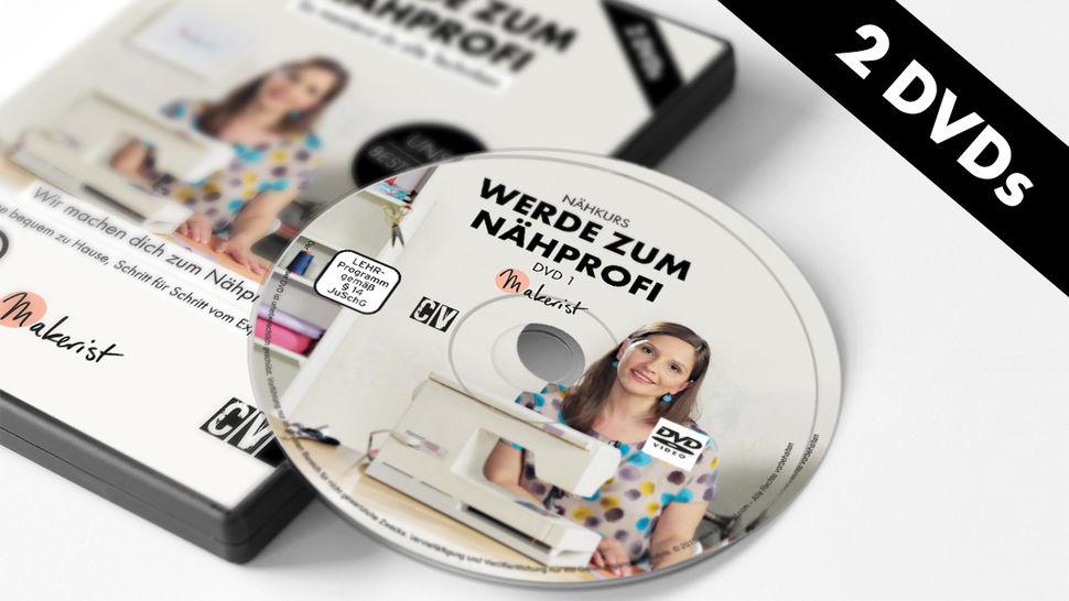 DVD: Werde zum Nähprofi - Nähkurs mit Steffi Falk - Berliner Stück im Makerist Materialshop - Bild 1