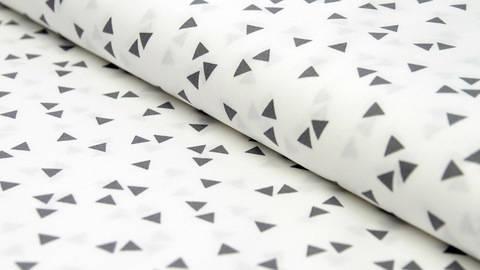 Baumwollstoff Dreieck weiß-grau: Triangle - 150 cm im Makerist Materialshop