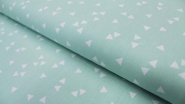 Baumwollstoff Dreieck mint: Triangle - 150 cm im Makerist Materialshop - Bild 1