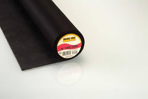 Vlieseline Bügeleinlage schwarz: Softline H180 fixierbar - 90 cm im Makerist Materialshop