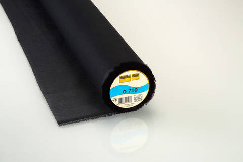 Vlieseline Gewebeeinlage schwarz: G710 fixierbar - 90 cm im Makerist Materialshop