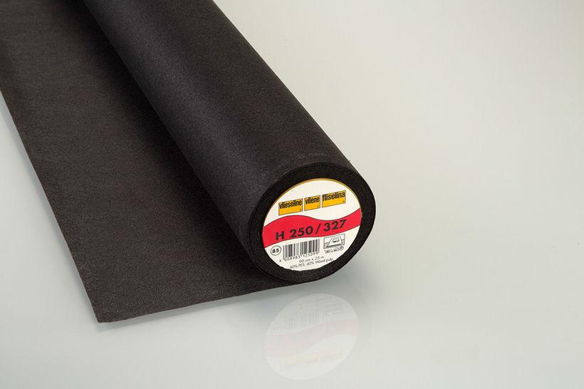 Vliesline Bügeleinlage grafit: H250 fixierbar - 90 cm im Makerist Materialshop - Bild 1