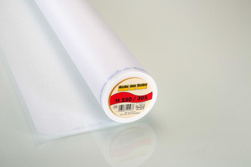 Vliesline Bügeleinlage weiß: H250 fixierbar - 90 cm im Makerist Materialshop - Bild 1