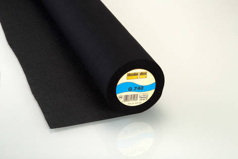 Vlieseline Gewebeeinlage schwarz: G740 fixierbar - 90 cm im Makerist Materialshop