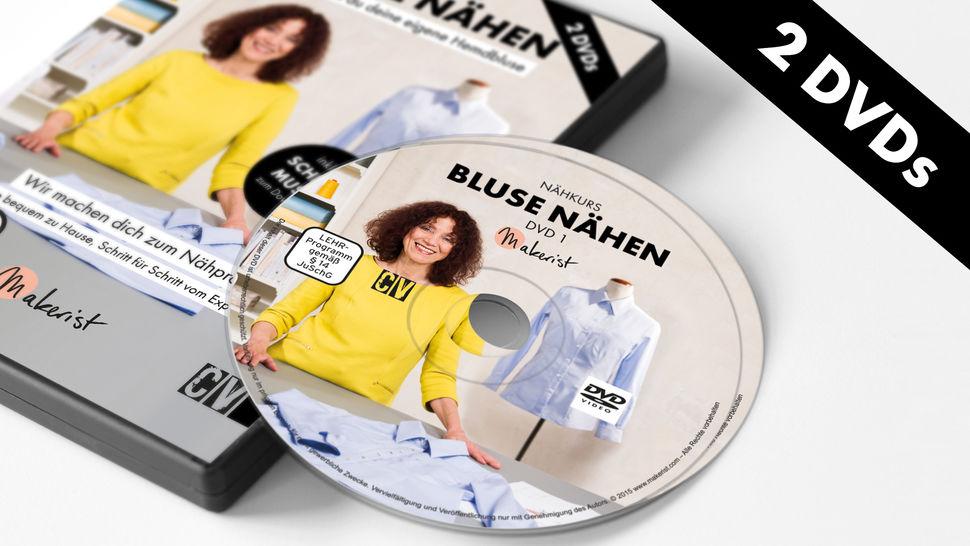 DVD: Bluse Nähen - Nähkurs mit Mia Führer im Makerist Materialshop - Bild 1