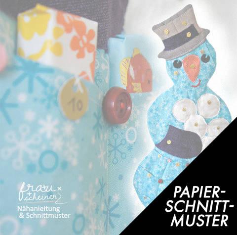 Gedrucktes Schnittmuster für: Schneemann Adventskalender im Makerist Materialshop