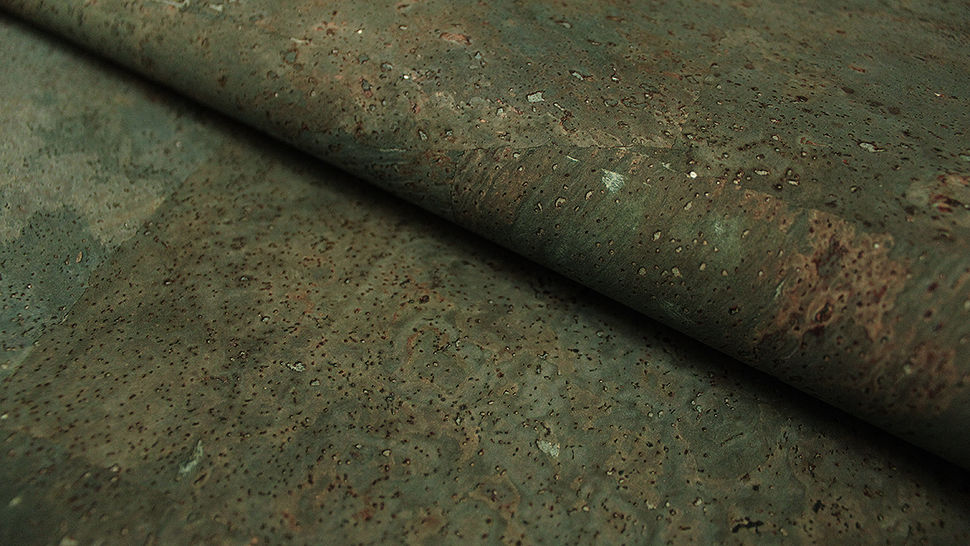 Blaugrüne Korkfolie Naturprodukt: Kork - 100 cm im Makerist Materialshop - Bild 1
