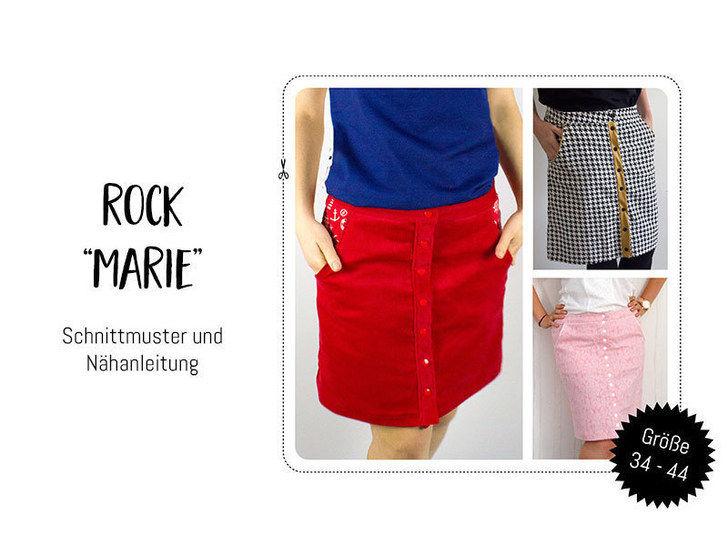 "Gedrucktes Schnittmuster für: Schnittmuster Rock ""Marie"" im Makerist Materialshop - Bild 1"