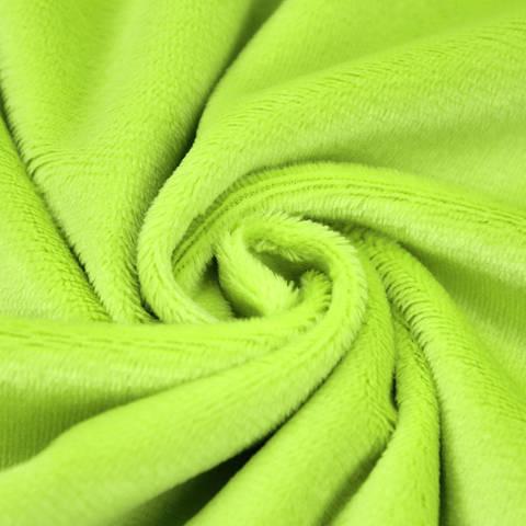 """Kuschelweicher Microfaserplüsch """"SHORTY"""" von kullaloo - grün im Makerist Materialshop"""