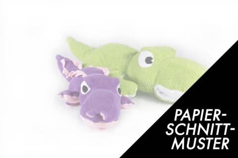 Gedrucktes Schnittmuster für Krokodil in zwei Größen im Makerist Materialshop