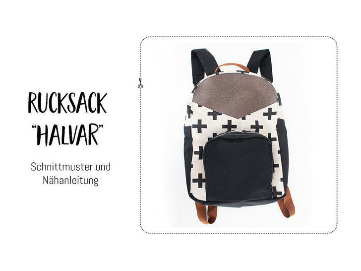 """Gedrucktes Schnittmuster für: Rucksack """"Halvar"""" im Makerist Materialshop - Bild 1"""