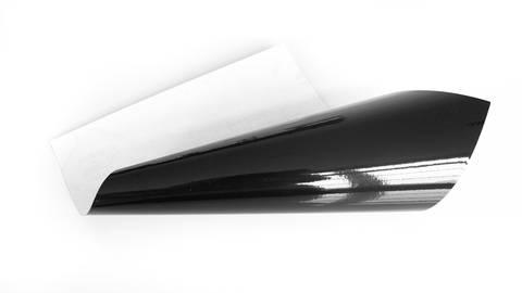 Glänzende Vinylfolie - schwarz im Makerist Materialshop