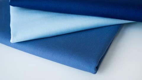 3er Unikombi Stoff-Set: Heide blau - 50 cm im Makerist Materialshop