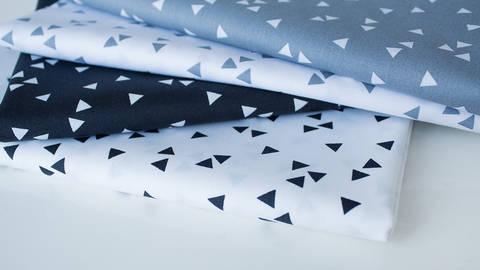 4er Baumwollkombi Stoff-Set: Triangle - 50 cm im Makerist Materialshop