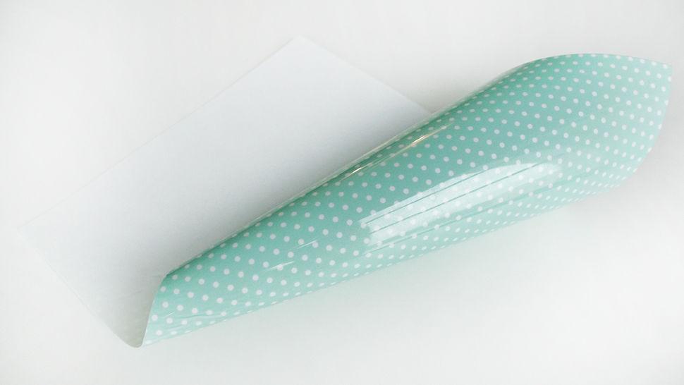 Flex pour plotter à pois - menthe dans la mercerie Makerist - Image 1