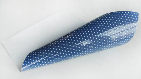 Flex pour plotter à pois - bleu royal dans la mercerie Makerist