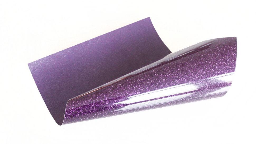 Glitzernde Flexfolie zum Plotten - eggplant im Makerist Materialshop - Bild 1