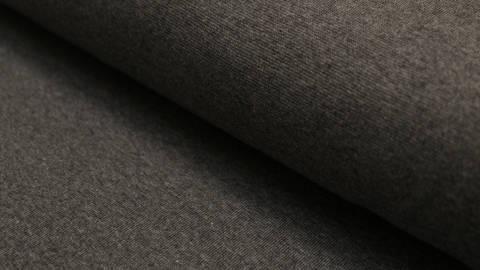 Bündchenstoff dunkelgrau meliert: Heike - 100 cm im Makerist Materialshop