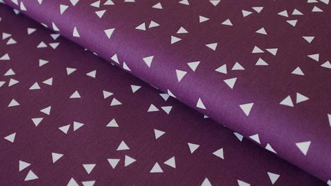 Baumwollstoff Dreieck lila: Triangle - 150 cm im Makerist Materialshop