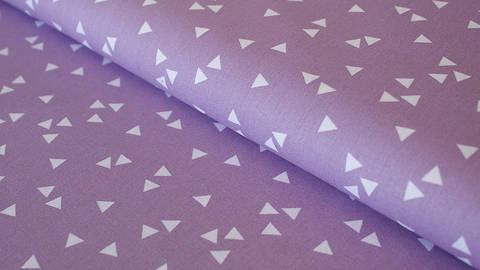 Baumwollstoff Dreieck flieder: Triangle - 150 cm im Makerist Materialshop