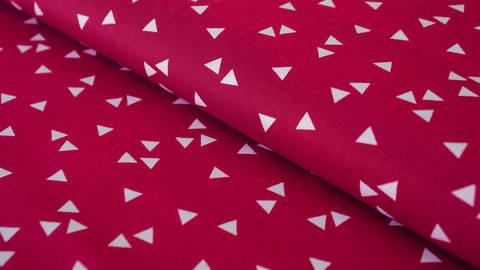 Baumwollstoff Dreieck kirschrot: Triangle - 150 cm im Makerist Materialshop