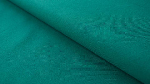 Petrolfarbener Baumwolljersey: Emerald - 160 cm im Makerist Materialshop