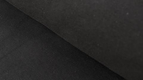 Schwarzer Baumwolljersey: Black - 160 cm im Makerist Materialshop