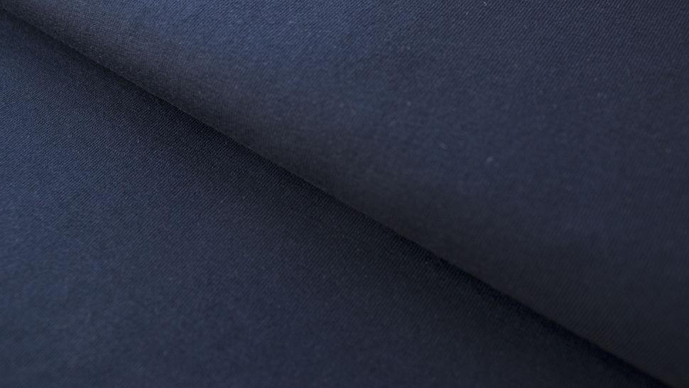 Nachtblauer Baumwolljersey: Dark Navy - 160 cm im Makerist Materialshop - Bild 1