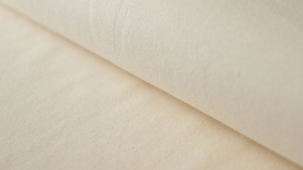 Naturfarbener Uni Jerseystoff: Gitte - 160 cm im Makerist Materialshop - Bild 1