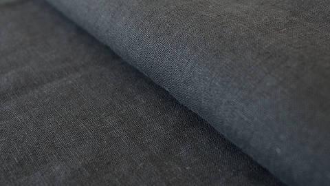 Leinenstoff schwarz: Damiel - 140 cm im Makerist Materialshop