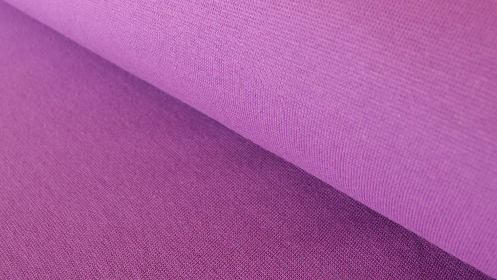 Bündchenstoff lila: Heike - 100 cm im Makerist Materialshop - Bild 1