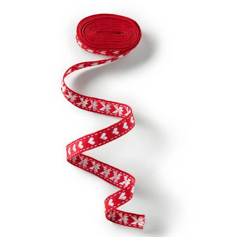 Borte mit Herz 10 mm rot/weiß im Makerist Materialshop