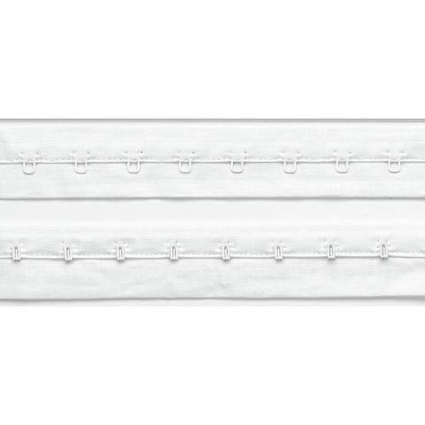 Haken- und Augenband mit Abst. 19 mm weiß im Makerist Materialshop