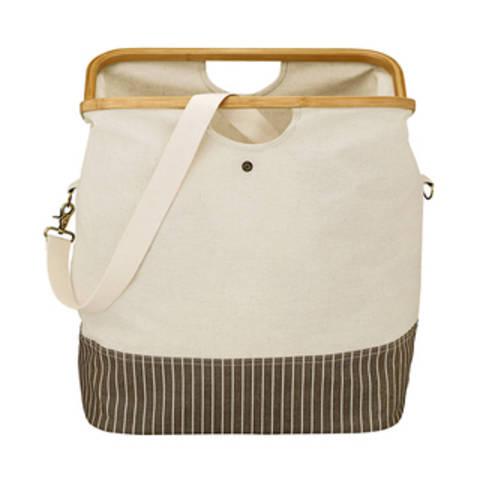 "Fold & Store Basket ""canvas & bamboo"" natur im Makerist Materialshop"
