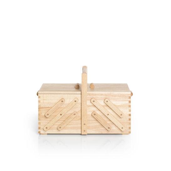 Nähkasten Holz hell M im Makerist Materialshop - Bild 1