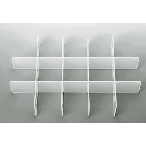 Sortiereinsatz für Click Box Jumbo 39,8x25,7x6,7 cm transparent im Makerist Materialshop
