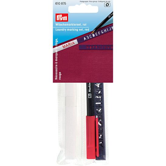 Wäschemarkierset Standard, roter Stift im Makerist Materialshop - Bild 1