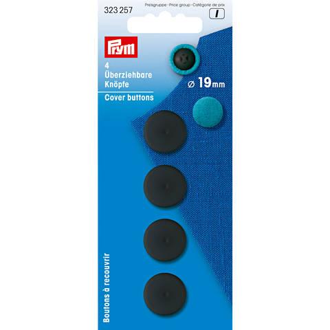 Überziehbare Knöpfe KST 19 mm schwarz im Makerist Materialshop