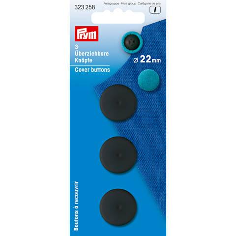 Überziehbare Knöpfe KST 22 mm schwarz im Makerist Materialshop