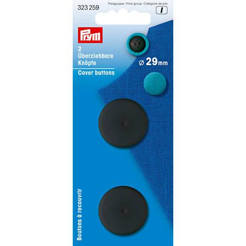 Überziehbare Knöpfe KST 29 mm schwarz im Makerist Materialshop